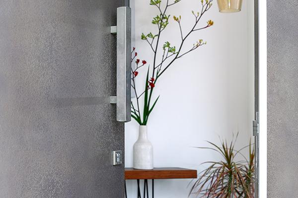 metal-coated door